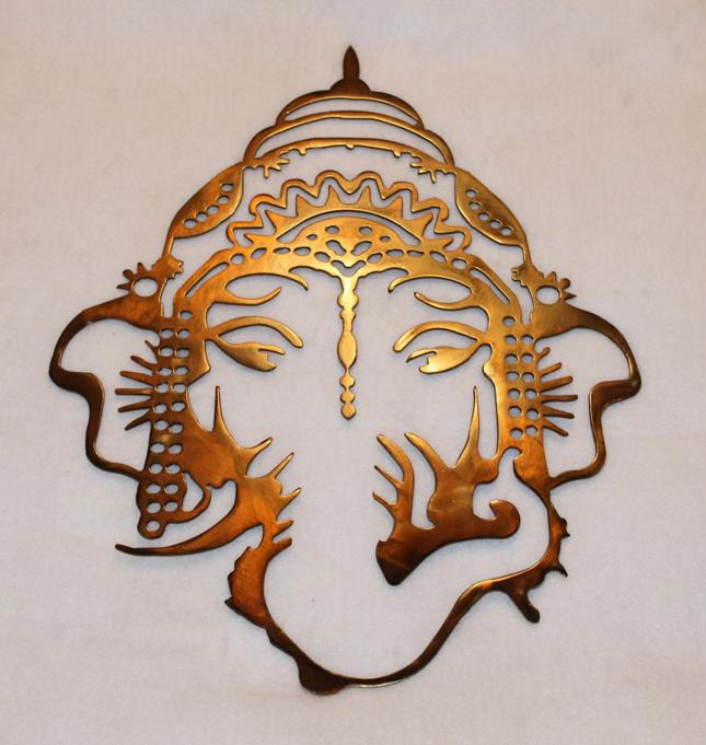 Ganesha Elephant Yoga Metal Wall Art Plasma Cut Ganesh God Deity Spiritual Ebay